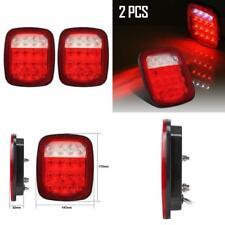 Jeep Wrangler JK LED Tail Light Break Turn Signal Rear PAIR-CJ7 CJ8 TJ LJ YJ LED