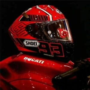 Motorcycle Full Face Helmet X14 X Spirit 3 Ducati V4 Red Marc Marquez 93 Helmet