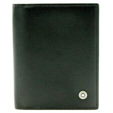 MONTBLANC LEATHER GOODS BLACK WALLET PORTEFEUILLE EN CUIR NOIR LUXURY ITEM
