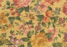 Portfolio Textile Gold Rose Grape Green Fruit Floral Cotton Drapery Upholstery