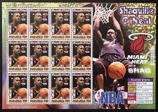 GRENADA SHAQUILLE O'NEAL STAMP SHEET 2005 MNH MIAMI HEAT LAKERS NBA BASKETBALL