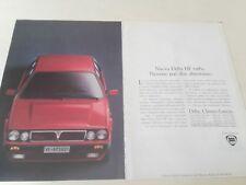 LANCIA DELTA integrale HF Turbo_pubblicità originale del 1991_advertising