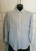 PAL ZILERI Mens blue stripe Shirt  Size Large XL 44""