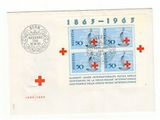 SWITZERLAND HELVETIA 1963 INT RED CROSS CENTENARY MINISHEET FIRST DAY COVER