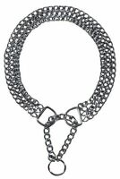 Triple Row Dog Choke Chain Collar Silver Chrome Strain Relief Choker 60cm/2.5mm