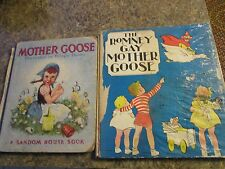 Lot of 2 vintage children's books - mother goose and romny gay - LUD