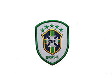 BRASIL SHIELD CBF LOGO IRON-ON PATCH CREST BADGE 2 1/2 X 3 1/4 INCHES ..NEW