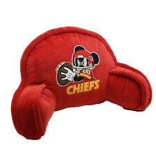 New Kansas City Chiefs Mickey Mouse Bed Rest Pillow Measures 19 by 7.5 inches