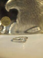 10K WHITE GOLD LADIES TWIRL DIAMOND RING SIZE : O / (0.19 CARAT DIAMONDS) 10K