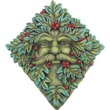 Green Man Berry Beard Wall Plaque Tree Garden Nature Spirit Decor Wicca Pagan