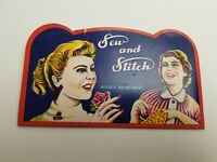 """Vintage """"Sew and Stitch"""" Needle Book"""