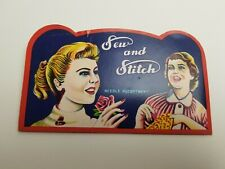 "Vintage ""Sew and Stitch"" Needle Book"