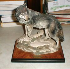 """Giuseppe Armani """"LONE WOLF"""" 0285-S Wolf Statue Sculpture from Italy  #67 of 3000"""