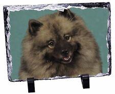 Keeshond Dog Photo Slate Christmas Gift Ornament Ad-kee1sl
