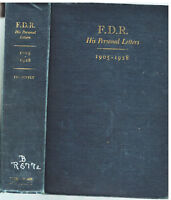 F.D.R.: His Personal Letters 1905-1928 First Ed. 1948 Vintage Book!$