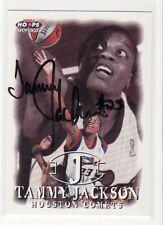 Tammy Jackson Houston Comets Florida Autographed Basketball Card