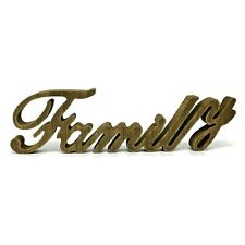"""Wooden Words Sign Free Standing """"Family"""" Tabletop/Shelf/Home Wall/Office Decor"""