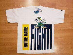 Notre Dame Fighting Irish T shirt Vintage 90s Starter Big Logo Men's size XL