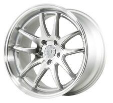 Aodhan DS02 18x9.5 +22 18x10.5 +15 5x114.3 Silver Mustang 350z G35 Q60 Genesis