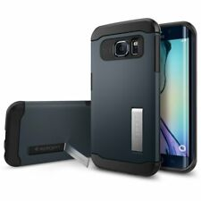 New Spigen Slim Armor with Kickstand Metal Slate Case For Samsung Galaxy S6 Edge