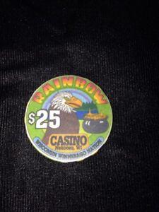 Rainbow Casino $25 Eagle Pot Of Gold Casino Chip Nekoosa WI