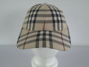 ADULT UNISEX BURBERRY BROWN CHECK BASEBALL STYLE CAP