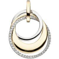 Anhänger mit 42 Diamanten Brillanten 585 Gold Gelbgold & Weißgold bicolor Damen