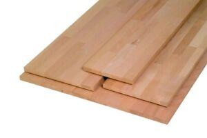 Massivholzplatte Buche, Oberfläche geschliffen, keilgezinkt 800 x 400 x 18 mm