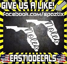 (2) FSU Florida State Seminoles vinyl car sticker decal 5'' bumper sticker
