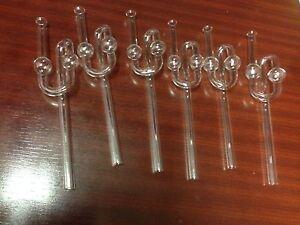 Set á 6 Piece Glass gärrohr 20cm Long-gärröhrchen/gäraufsatz-Beer