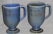 Set (2) Wade Irish Porcelain IRISH COFFEE 8 oz PEDESTAL MUGS Made in Ireland