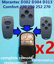 2x Marantec D304 D313 D302 Comfort 220 250 252 270 Garage Door gate Remote