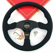 Universal 340mm Racing Steering Wheel with Black Leather For momo hub