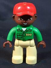 Lego Duplo Mini Figure Replacement - ZOO KEEPER Man Worker