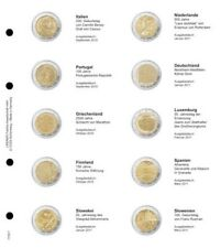 Lindner 1118-7 Illustrated page 2 EURO commemorative Italy 2010 - Slovenia 2011