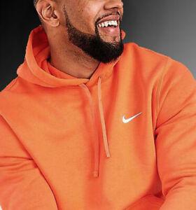 NIKE Sportswear Swoosh Fleece Hoodie 826433-871 Orange Men Size Sm, Lg, XXLarge