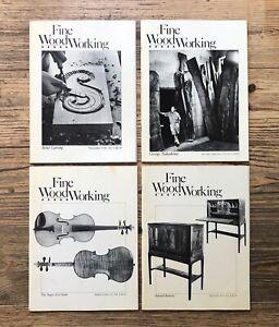 FINE WOODWORKING MAGAZINE: 4 VOLUMES No. 13 - 16, George Nakashima (1978 - 1979)