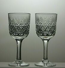 "4 3//4/"" THOMAS WEBB Wellington 5 oz Claret Wine Glass - 2 available /> 12cms"