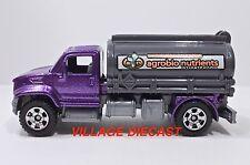2008 Matchbox #67 Guzzler™ (2006 Utility Truck) PURPLE/AGROBIO NUTRIENTS/MINT