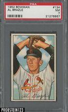 1952 Bowman SETBREAK #134 Al Brazle St. Louis Cardinals PSA 7 NM