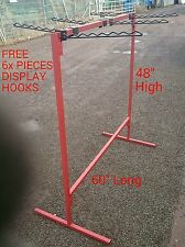 MARKET Stall HEAVY DUTY SHOP DISPLAY CLOTH Rail 4FT x 5FT
