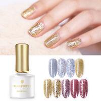 BORN PRETTY 6ml Gold Silver UV Gel Soak Off Sequins Shimmer Nail Art Gel Varnish