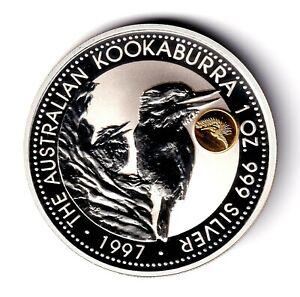 AV-VD Australien 1997 Kookaburra Gold Privy Phoenix 1 OZ 999 Silber + CoA    ZR7