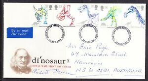 Great Britain 1991 Dinosaurs First Day Cover Croydon to Narromine Aust