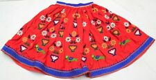 India Kuchi Embroidery Ethnic Boho Gypsy Banjara Tribal Rabari Belly Dance Skirt