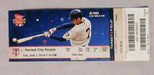 Minnesota Twins Vs Kansas City Royals 7/1/14 Ticket Stub  Joe Mauer