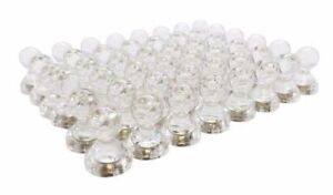 """10 pk - 1"""" x 1 1/4"""" CLEAR whiteboard / push pin / refrigerator magnets US SELLER"""