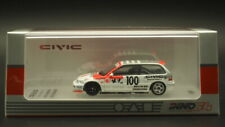 Inno64 Model 1/64 Honda Civic EF9 SiR White #100 JTC 1989