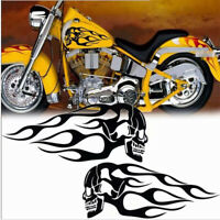 SHINY CHROME FLAME VINYL DECALS STICKERS BIKE HELMET GAS TANK MOTORCYCLE  #5
