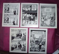 5 Large 5x7 POST CARDS - FUNNY WINE THEME CARTOONS - Uncirculated / Unused
